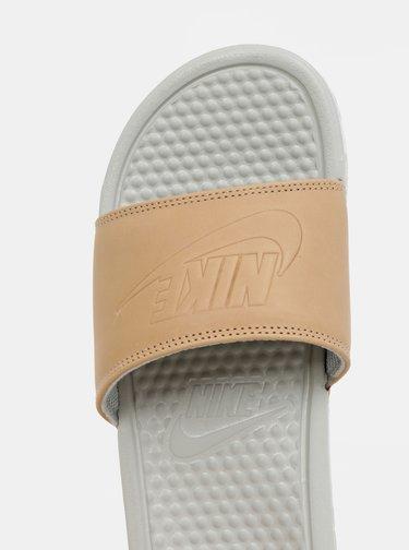 Béžovo-šedé dámské pantofle Nike Benassi