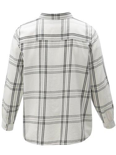 Bílá kostkovaná košile Zizzi Down