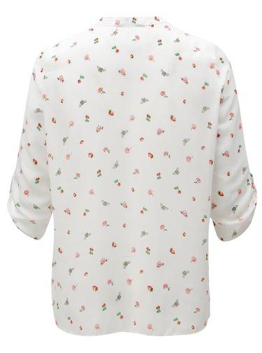 Bluza alba cu model si cu maneci 3/4 Billie & Blossom Curve