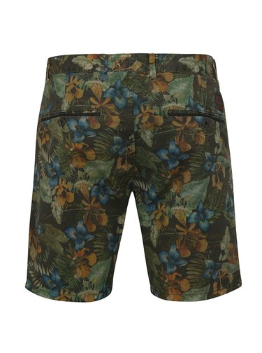 Pantaloni verzi chino cu model floral Shine Original