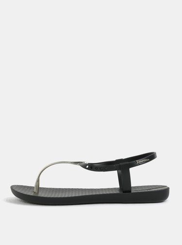 Čierne sandálky s detailmi v zlatej farbe Ipanema Charm V