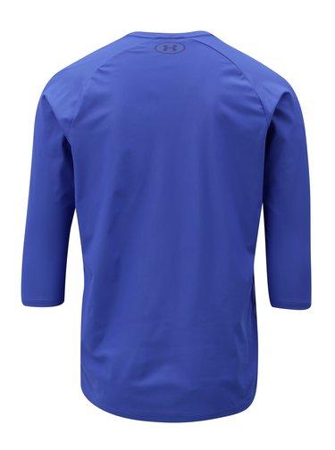 Modré pánske funkčné tričko s 3/4 rukávom Under Armour