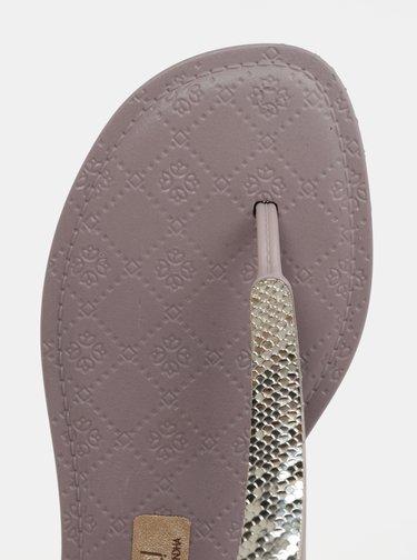 Světle fialové sandály s ozdobnou aplikací Grendha Sense