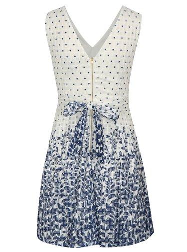 Modro-biele vzorované šaty Mela London