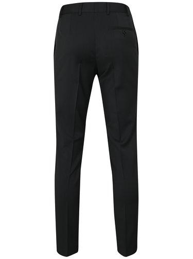 Pantaloni formali gri inchis din lana Good Son