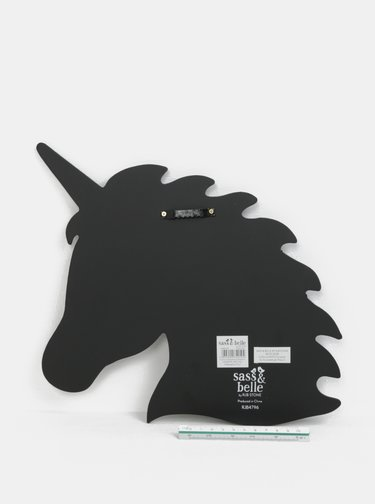 Tabla neagra in forma de cap de unicorn Sass & Belle Unicorn Silhouette