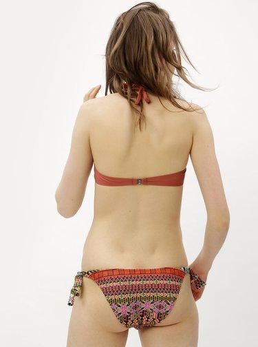 Costum de baie din 2 piese caramizie cu model ZOOT
