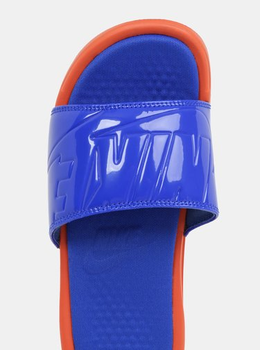 Oranžovo-modré dámské pantofle Nike Benassi