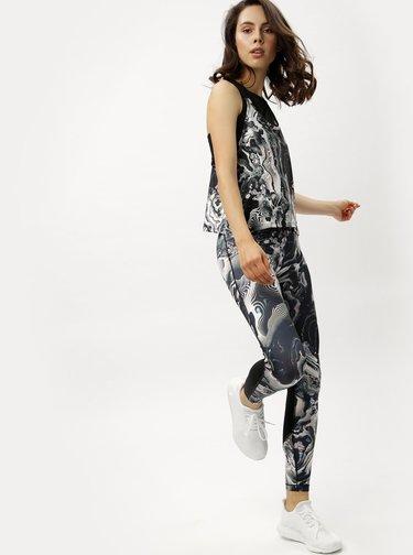Bielo-čierne dámske funkčné tielko Nike Tank Coral Print