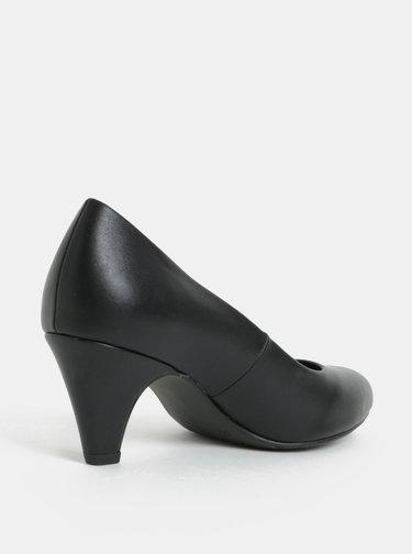 Pantofi negri mati cu toc Tamaris