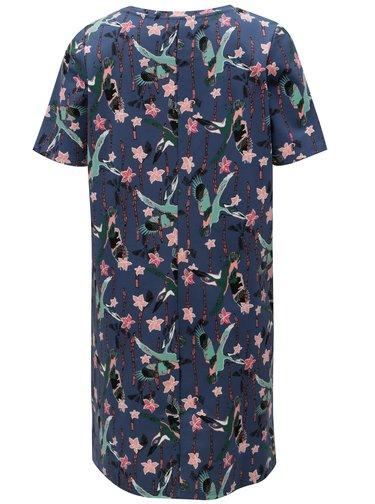 Tmavomodré vzorované šaty Garcia Jeans