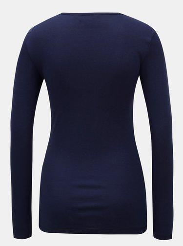 Tricou albastru cu maneci lungi Dorothy Perkins