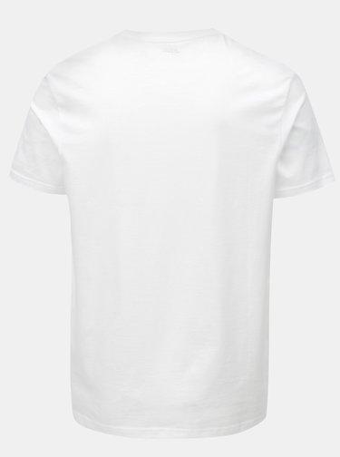 Bílé regular fit basic tričko s véčkovým výstřihem Burton Menswear London