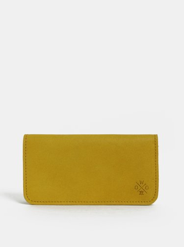 Hořčicová dámská kožená peněženka WOOX