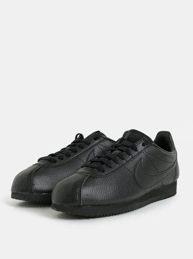 Čierne pánske kožené tenisky  Nike Classic Leather