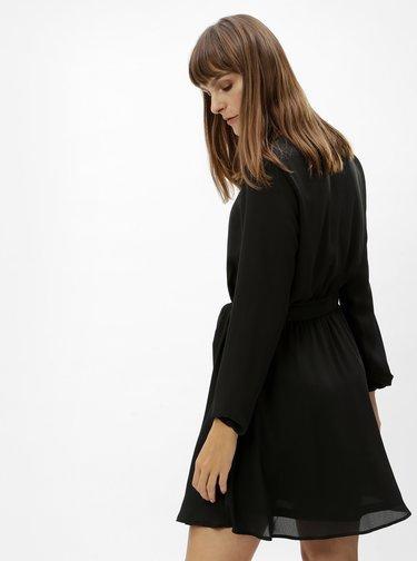 Čierne minišaty s elastickým pásom VILA Lucy