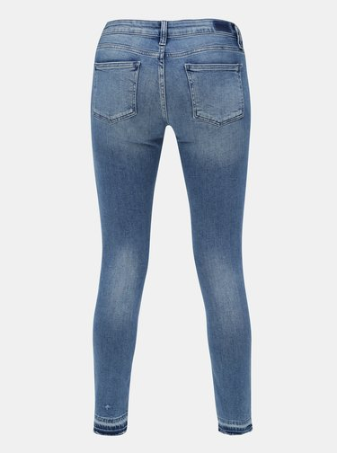 Blugi albastri super skinny din denim cu talie joasa Rich & Royal