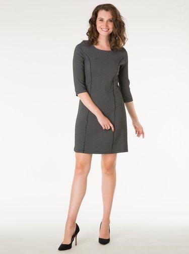 Bielo–čierne vzorované šaty s 3/4 rukávom Yest