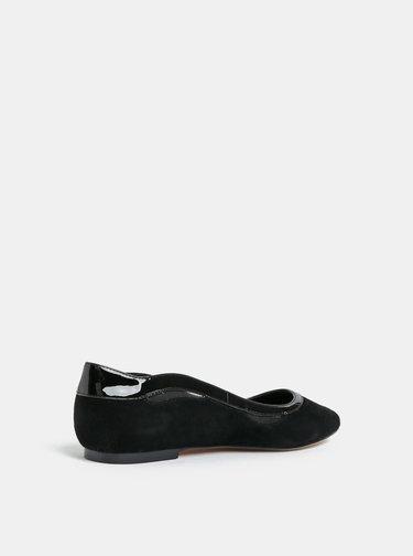 Černé semišové baleríny Dune London