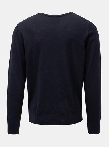 Tmavomodrý tenký sveter z Merino vlny Farah Mullen