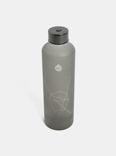 Sklenená fľaša na vodu v sivej farbe EQUA 750 ml