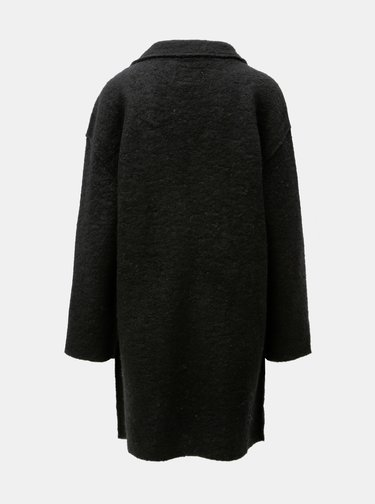 Černý vlněný kabát VILA Rah