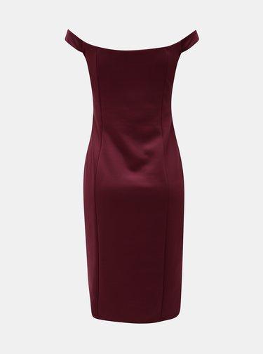 Vínové pouzdrové šaty na ramínka Miss Selfridge