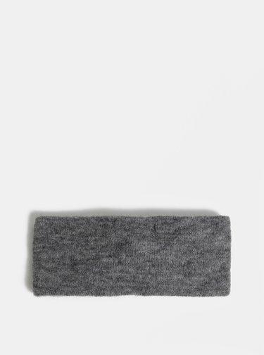 Sivá melírovaná čelenka s prímesou vlny Pieces Josefine