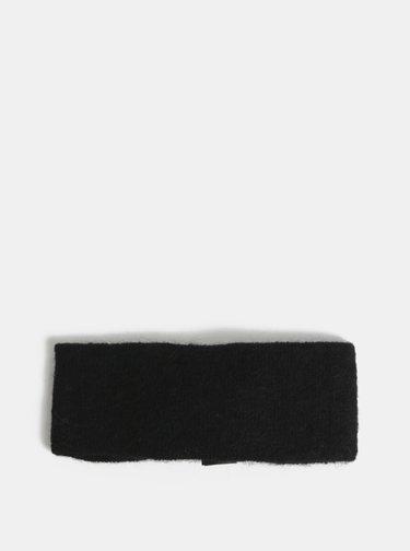 Černá čelenka s příměsí vlny Pieces Josefine