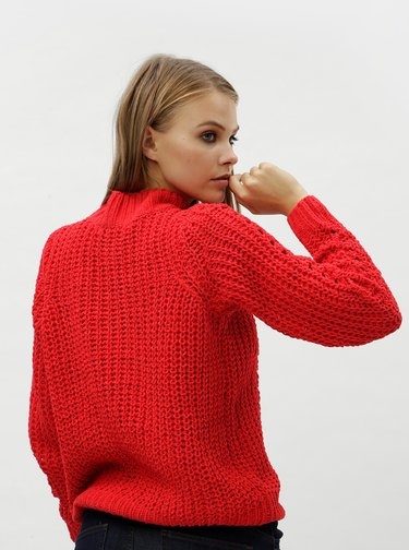 Červený sveter VERO MODA Nila