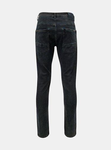 Blugi barbatesti albastru inchis tapered fit din denim Garcia Jeans