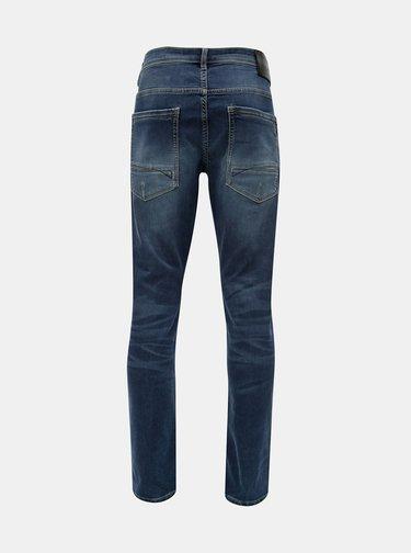 Blugi barbatesti albastri tapered fit din denim Garcia Jeans