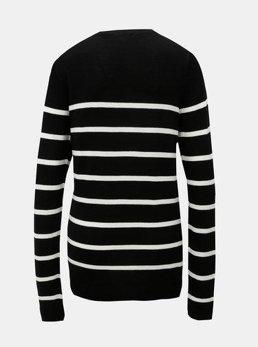 Bílo-černý pruhovaný svetr Dorothy Perkins
