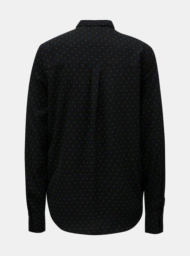 Čierna bodkovaná košeľa VERO MODA