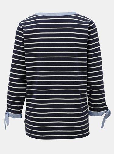 Tricou albastru inchis in dungi Nautica