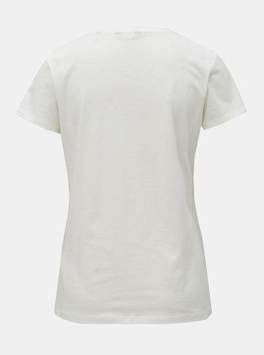 Biele dámske basic tričko s krátkym rukávom GANT