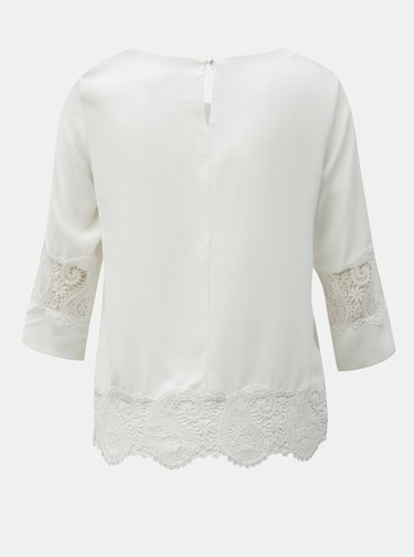 Bluza alba cu detalii din dantela Dorothy Perkins Petite