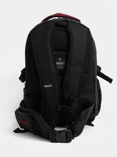 Červeno-sivý batoh s odnímateľným bedrovým popruhom a pršiplášťom NUGGET 30 l