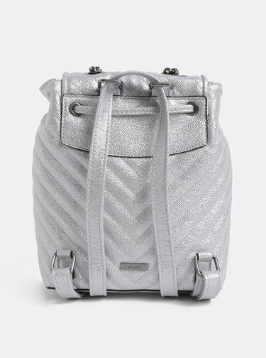 Dámsky batoh v striebornej farbe ALDO