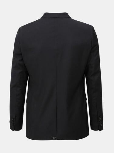 Čierne oblekové skinny fit sako Burton Menswear London