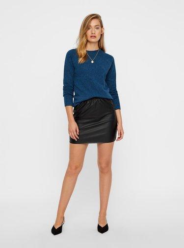 Čierna koženková sukňa VERO MODA Riley