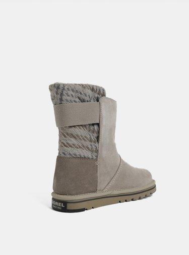 Sivé dámske semišové zimné topánky SOREL Newbie