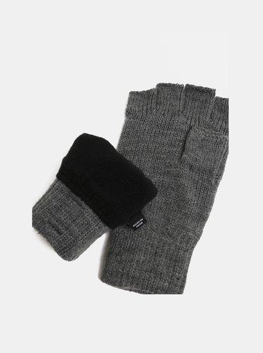 Manusi gri fara degete cu partea interioara din fleece ONLY & SONS Clas