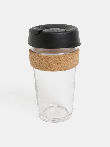 Černý skleněný cestovní hrnek KeepCup Brew large 454 ml