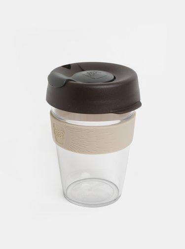 Sivo–hnedý cestovný hrnček KeepCup Original medium 340 ml