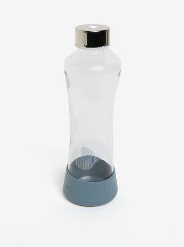 Modrá sklenená fľaša s potlačou EQUA Metallic (550 ml)