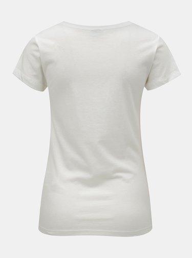 Tricou alb cu imprimeu Jacqueline de Yong Chicago