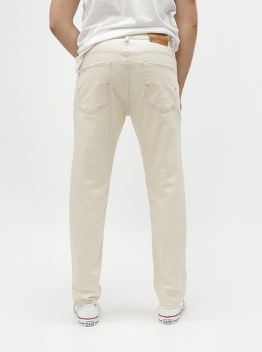 Krémové tapered fit rifle Selected Homme Toby