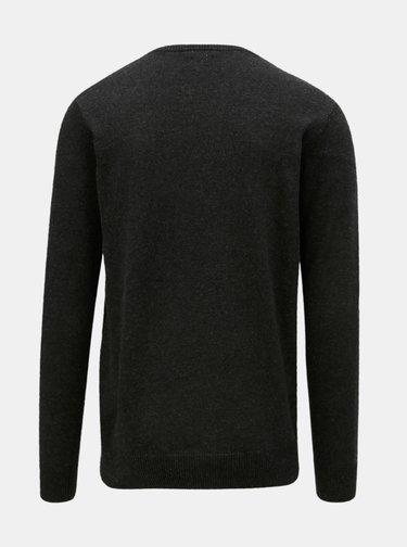 Pulover negru cu model Dstrezzed