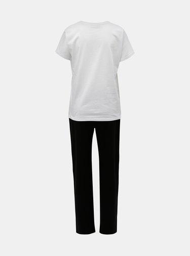 Pijama de dama negru-alb cu motiv pisica ZOOT